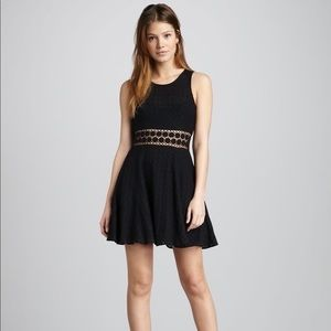 Free People Black Daisy Chain Dress